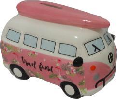 Spaarpot Mini-busje Roze
