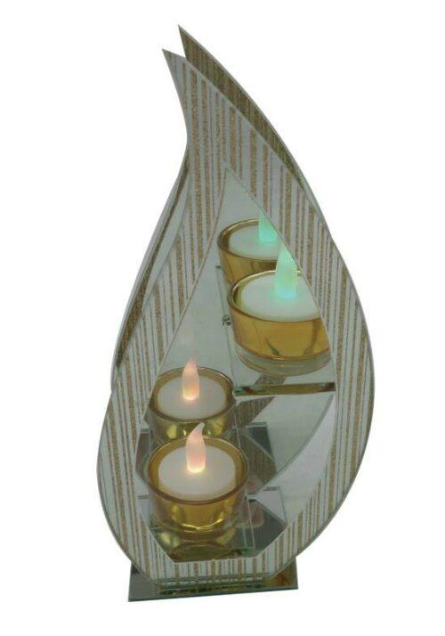Kandelaar - Vlamvormig - Glas