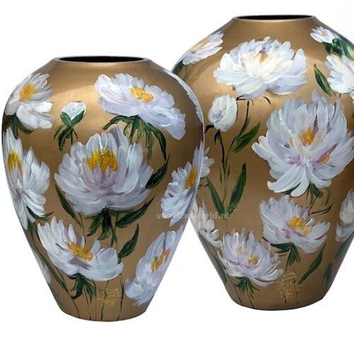Bloemenvazen Handbeschilderd